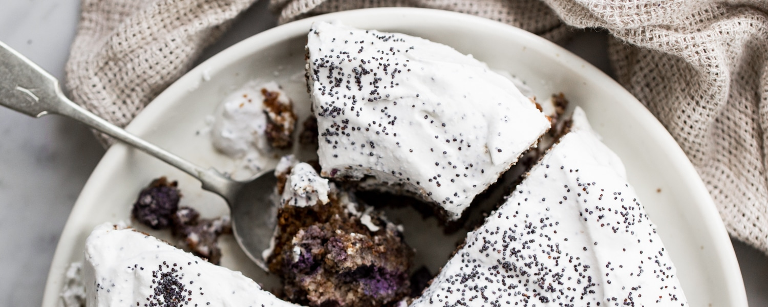 gluten-free vegan blueberry coconut cake