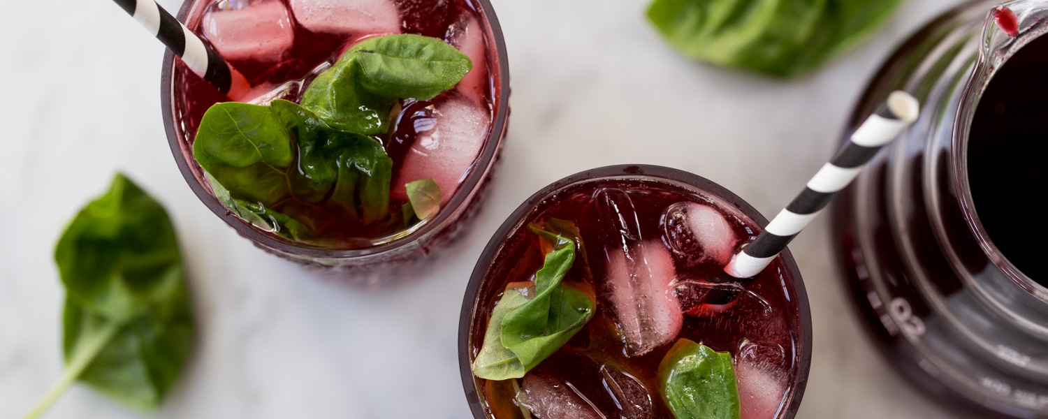 blackberry basil shrub