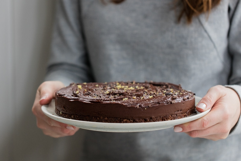 gluten free vegan chocolate tart